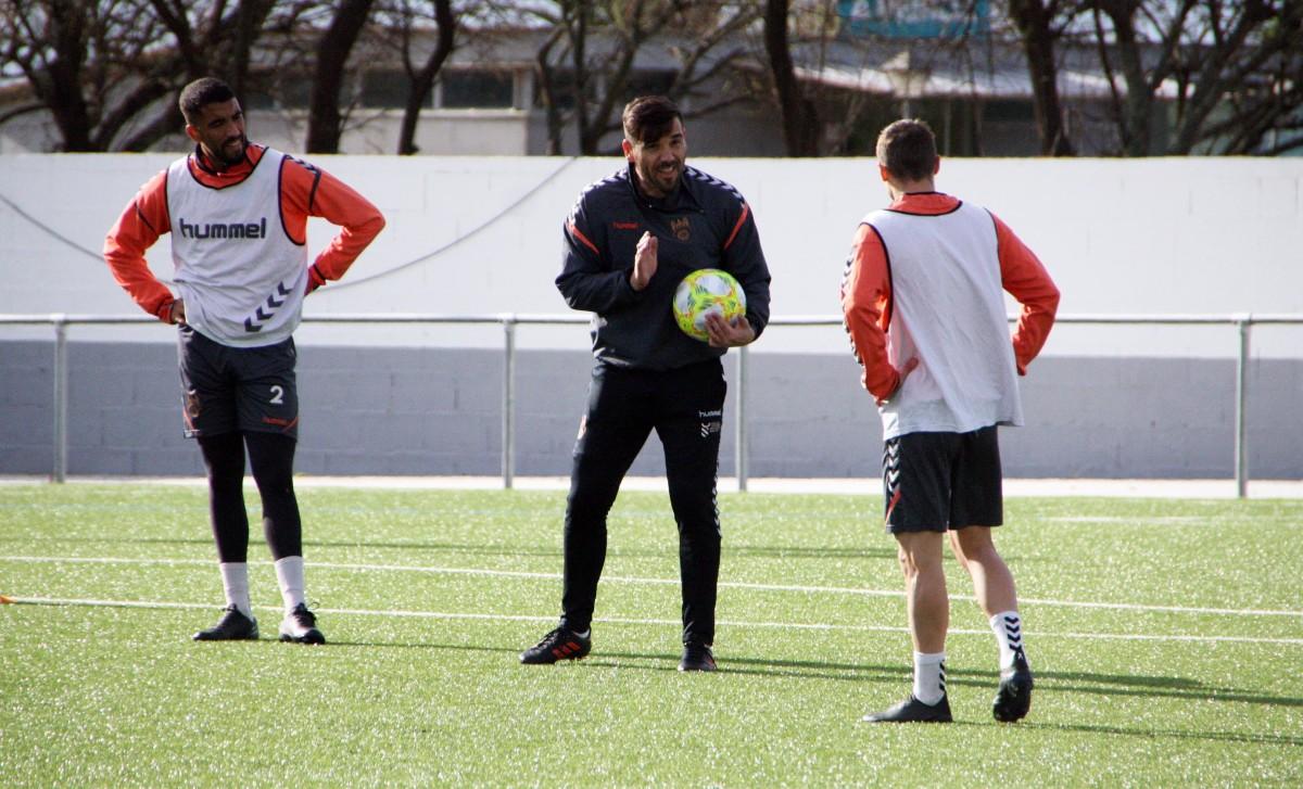 Jesús Ramos entrenando