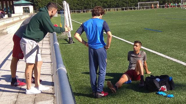 Romay cae lesionado y será baja ante el Deportivo
