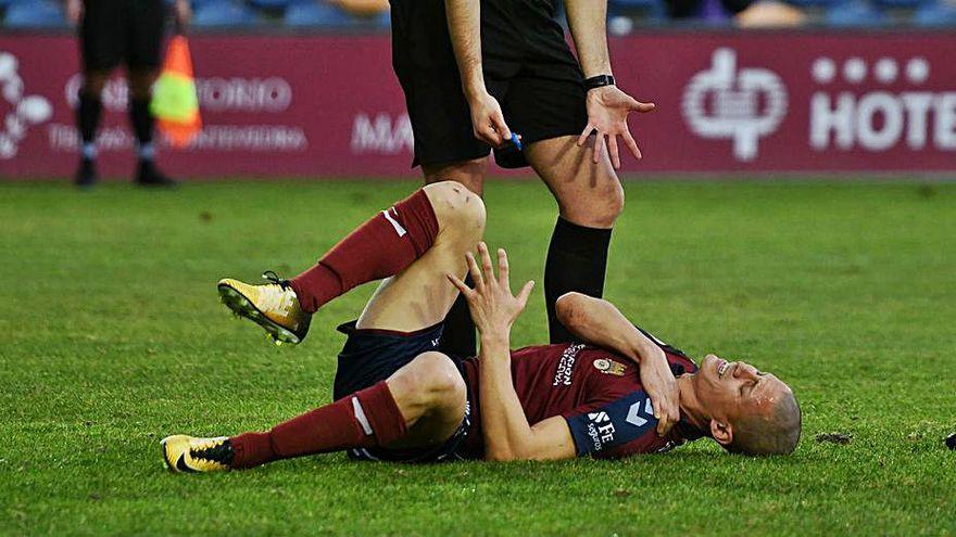 Rufo sufre un esguince de hombro de grado 1